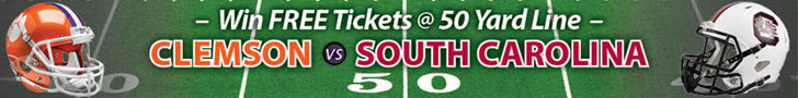 Win 50-yard line tickets to the 2018 Palmetto Bowl