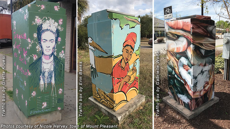 Traffic boxes in Mount Pleasant, SC