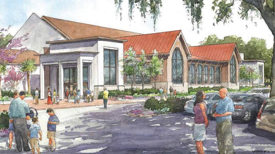 An artist 's rendition of what the new building will look like at St. Andrew's Church.