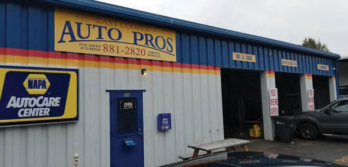 East Cooper Auto Pros.  1198 Shadow Drive in Mount Pleasant, SC