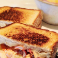 Lobster Grilled Cheese with scratch-made soup at Burtons Grill & Bar