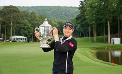 Ariya Jutanugarn, 2018 U.S. Women's Open winner at Shoal Creek in Shoal Creek, Alabama. Copyright USGA/Darren Carroll.