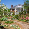 Spring garden in full bloom at Boone Hall.