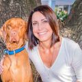 Jenny McKenzie and Rudder, her 4-year- old vizsla.