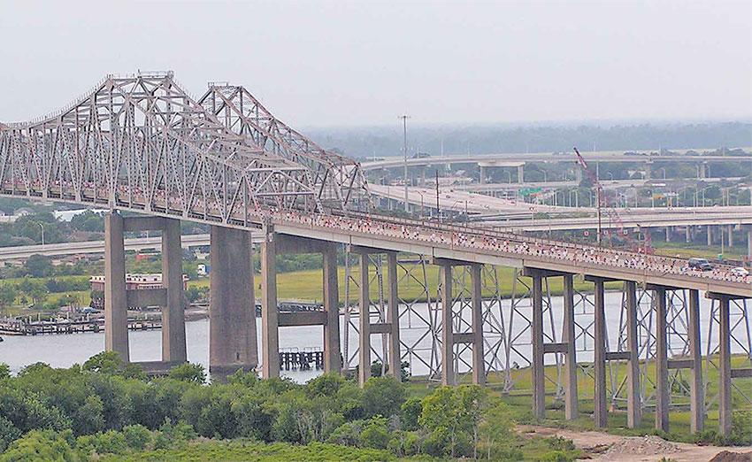 The Silas N Pearman Bridge hosts its last Bridge Run
