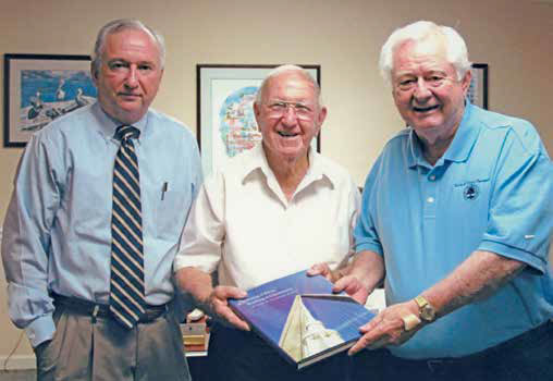 Mac Burdette, left, with former Mount Pleasant Mayors