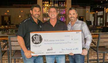 Left to right: SOL owners Andy Palmer, David Clark and Joe Sciortino.