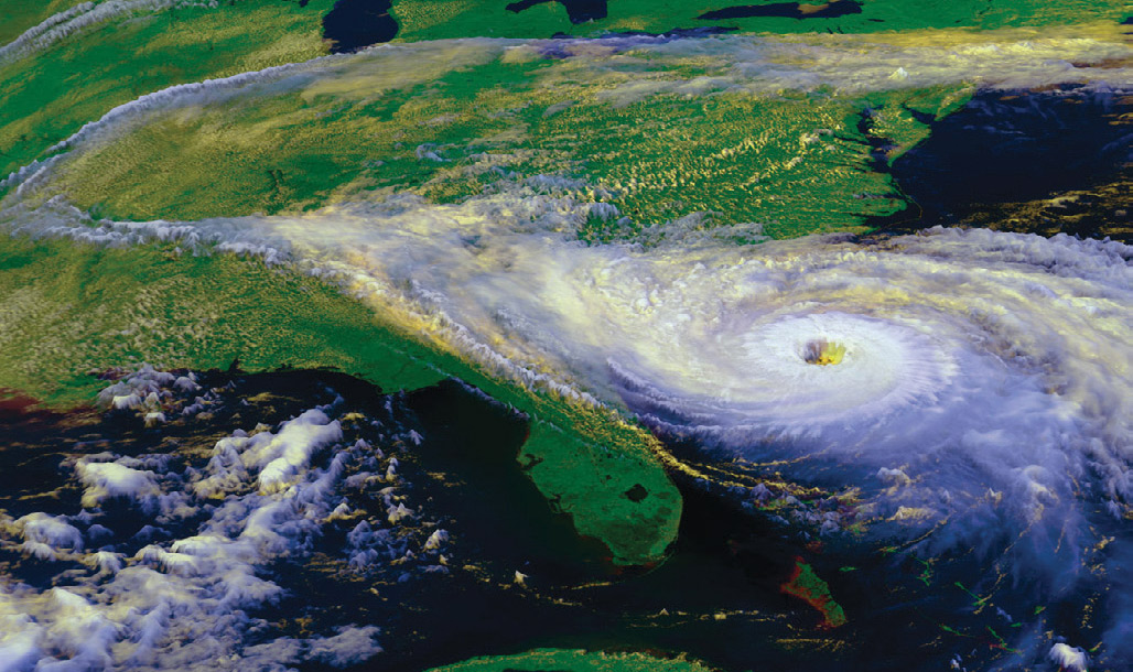 Hurricane Hugo as seen from satellites