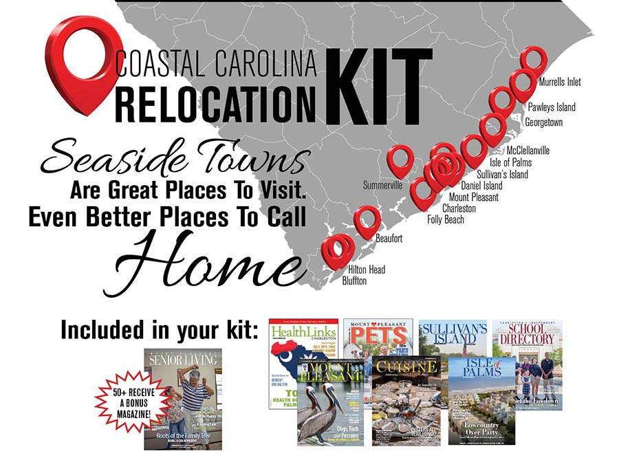 Coastal Relocation Kit graphic with free magazines