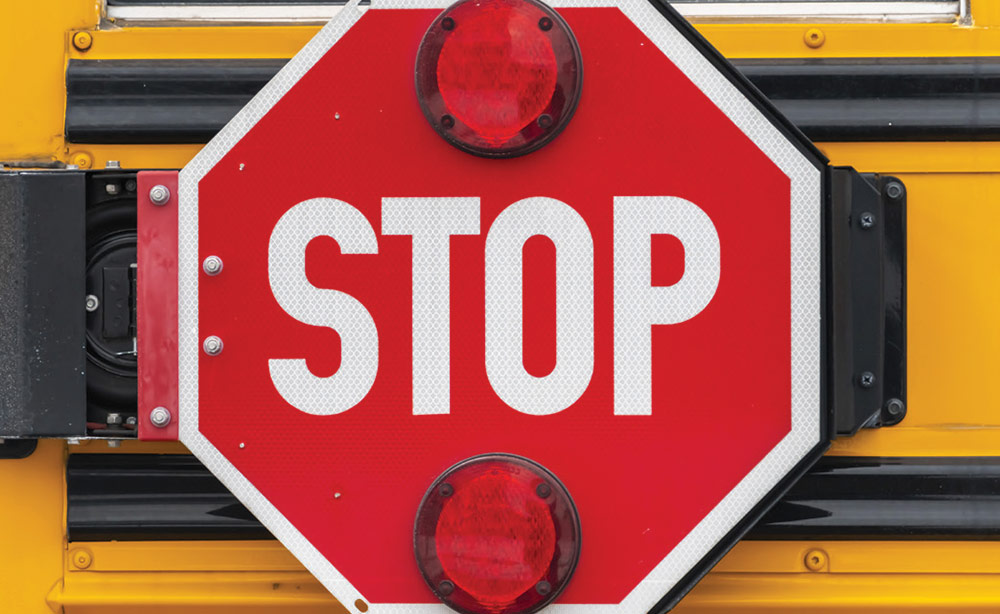 School Bus stop sign - School bus safety