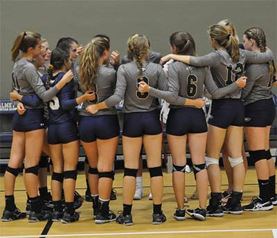 Palmetto Christian Academy volleyball.