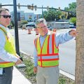 Mt Pleasant Transportation Director Brad Morrison and Transportation Infrastructure Division Chief Paul Lykins