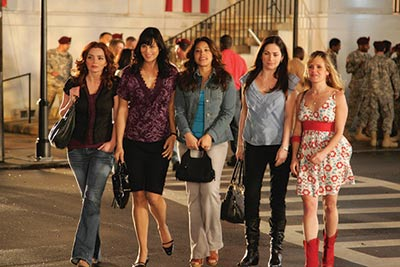 """Army Wives"" cast, from left to right: Brigid Brannagh, Catherine Bell, guest-star Gina Rodriguez, Kim Delaney and Sally Pressman."
