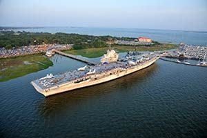 Aerial photo of Patriots Point in Mount Pleasant, SC