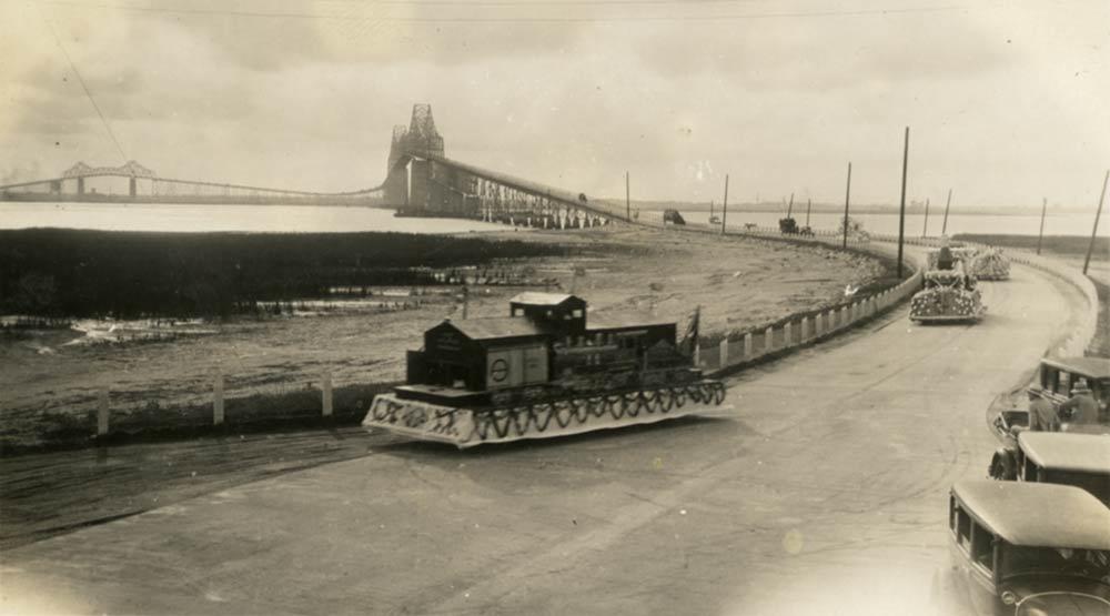 1929 parade celebrating the Cooper River Bridge