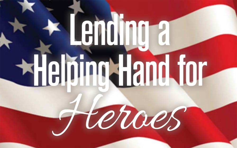 Text on an American Flag: Lending a Helping Hand for Heroes