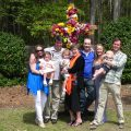Mike and Lynda Cooke with their children and grandchildren in happier times