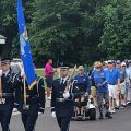 PGA HOPE veterans passing in review at The Golf Club at Wescott Plantation.
