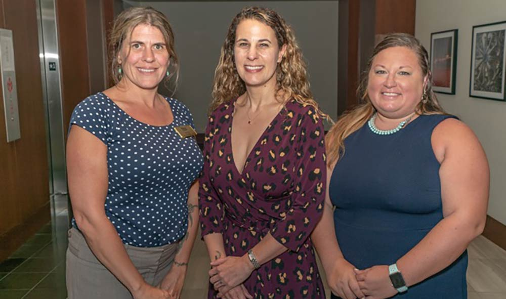 Sarah Hull, Dr. Jule LaCubbert and Dr. Laura McMaster (left to right), comprise the core faculty of Webster's Charleston campus.