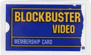Blockbuster Video membership card