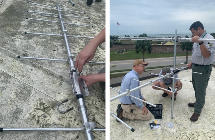Audubon South Carolina installed a Motus Tower to track migratory patterns of birds and wildlife at Fort Moultrie Visitor's Center on Sullivan's Island.