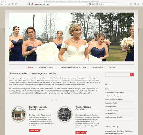 Charleston Brides website