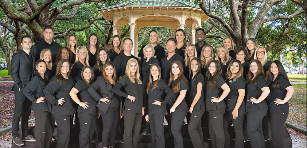 Group photo of the staff of Charleston Orthodontic Specialists in Mount Pleasant, SC