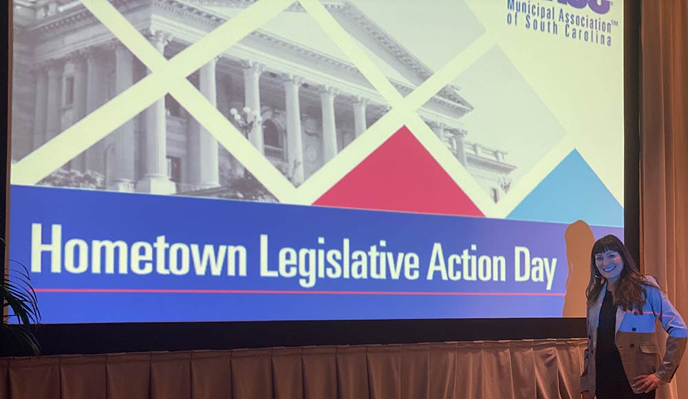 Councilwoman Brenda Corley at the 2020 MASC Hometown Legislation Action Day