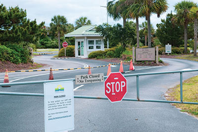 IOP County Park temporarily closed during the COVID-19 Pandemic