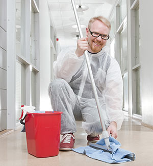 A medical custodial worker