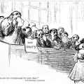 "Cartoon, ""Women are too sentimental for jury duty. Anti-Suffrage argument. Credit: Library of Congress: loc.pnp/cph.3b49101"