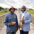 "Chef Benjamin ""BJ"" Dennis and Charlton Singleton, co-founder of the Charleston Jazz Orchestra and member of the Grammy-winning band Ranky Tanky"