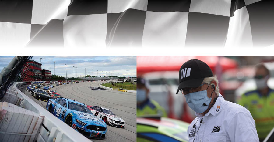 "Image collage: NASCAR's ""The Real Heroes 400"" Makes History: The Race is On!"