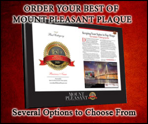 Get Your Official Best of Mount Pleasant Plaques!