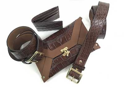 Alligator belt and accessories. Erika Lynn.