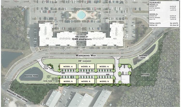 Gregorie Ferry Workforce Housing Aerial View.