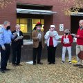 Mount Pleasant's Mayor Haynie with carolers