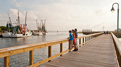 Shem Creek boardwalk. Photo provided by the Town of Mount Pleasant.