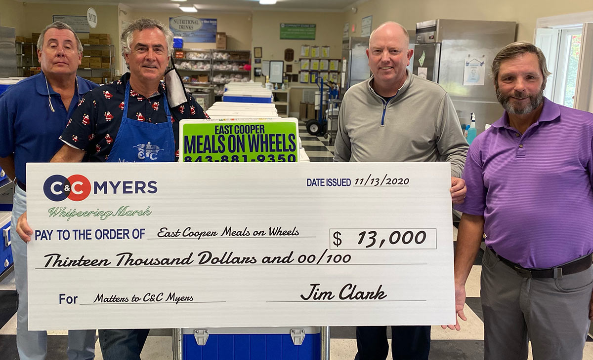 C&C Myers and the Whispering Marsh neighborhood hosted a golf tournament benefiting East Cooper Meals on Wheels, and this year they raised $13,000.