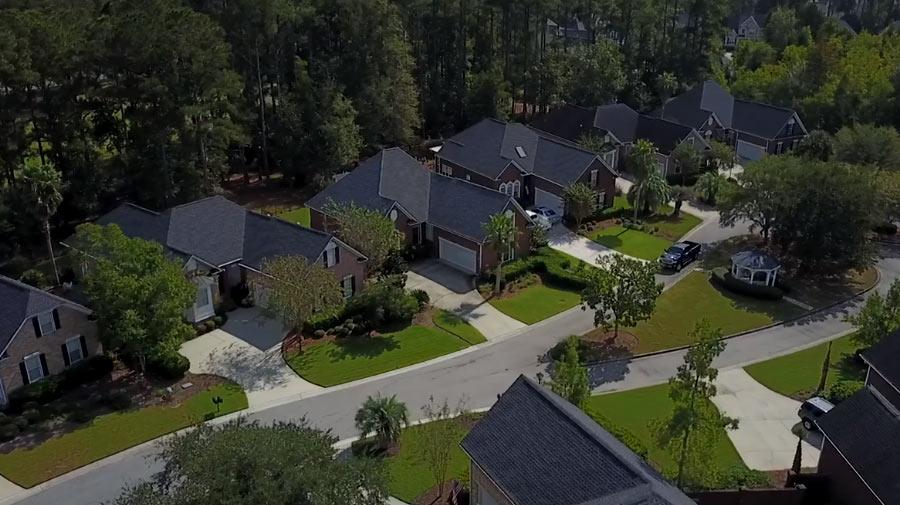 Real estate: homes in Mount Pleasant's Dunes West neighborhood.