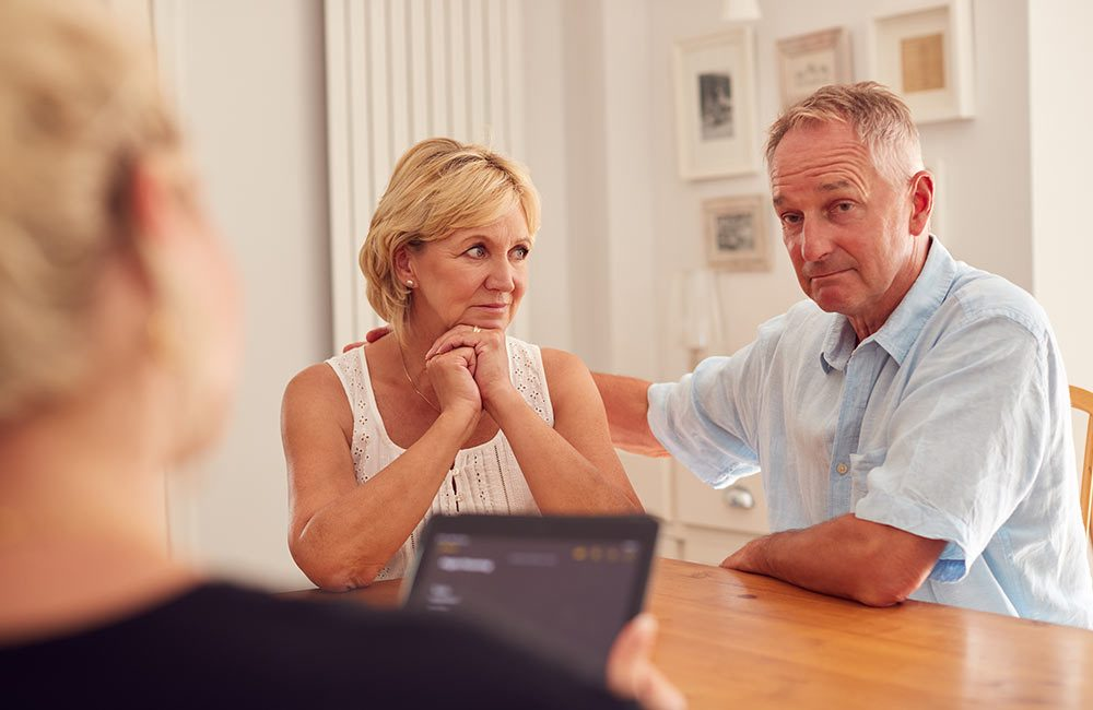 A couple receives financial counseling.