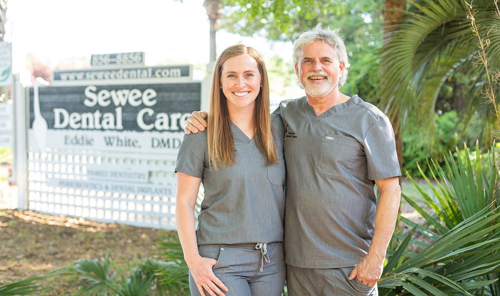 Dr. Ivy White and Dr. Eddie White from Sewee Dental Care in Mount Pleasant, SC.
