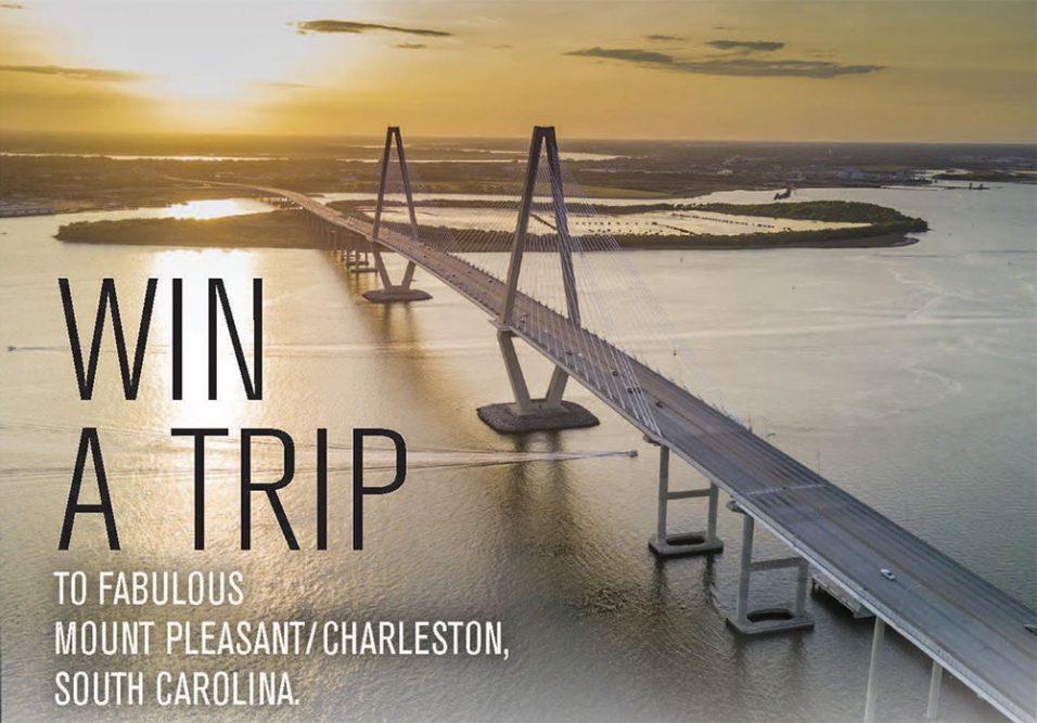 Win a Trip to Fabulous Mount Pleasant/Charleston, South Carolina